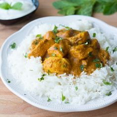 This Spicy Indian Chicken Curry is packed with aromatic spices and is perfect with basmati rice or homemade naan.
