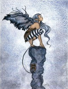 fairy art by Amy Brown Blue Stone