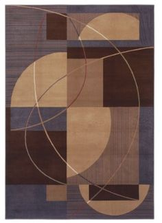 Shaw Inspired Design Mojo Brown Area Rug
