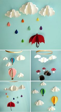 Dimensional Paper Mobiles & Wall Art