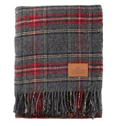 Pendleton Charcoal Stewart Plaid Blanket