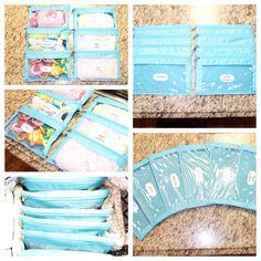 Budget Diaper Bag Organization.                 Made From Pencil Zipper Pouches