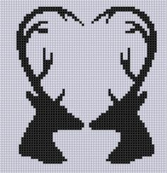 35 Awesome deer head cross stitch pattern images