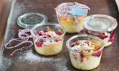 Kuchen im Glas - Rezepte - Schweizer Milch Acai Bowl, Cheesecake, Pudding, Sweets, Breakfast, Desserts, Food, Seasonal Fruits, Canning Jars