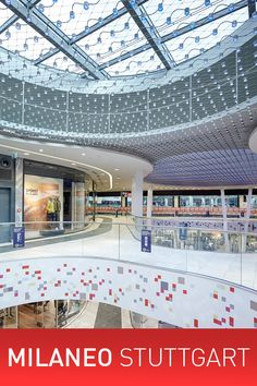 Around two hundred shops on three levels, sharing 43,000 square metres of floor space: the Milaneo shopping centre at Mailänder Platz in Stuttgart is not only impressive for its sheer scale.  #milaneo #xled #stuttgart #led