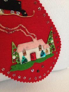 Vintage 1965 Felt Stocking Christmas Handmade By Mayavintage