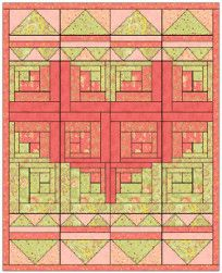 The block design for this Log Cabin Baby Quilt is special because it involves a lot of different shapes that make up a bigger shape.