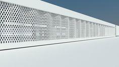 FLEXBRICK. Tejido cerámico Ceramic textiles Tissu céramique Teixit ceràmic. Fachada ventilada/Ventilated facade/Façade ventilée; Celosía colgante/Suspended facade; Fachada ligera/Lightweight facade/Façade légère; Protección solar de fachada/Brick filter/Ecran de protection soleil; Filtro solar/Sunscreen/Filtre solaire; Divisorias/Room dividers