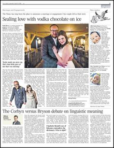 Katie and Simon's wedding at The Bell in Ticehurst featured inThe Times last Saturday. More Times Weddings here -