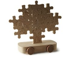 Journey of a Cedar by Marcel Wanders: Wooden jigsaw puzzle toy car! Wooden Toy Cars, Wood Toys, Marcel, Contemporary Toys, Wood Projects For Kids, Wooden Jigsaw Puzzles, How To Make Toys, Got Wood, Woodworking For Kids