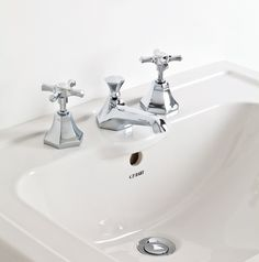 Our exclusive Empire 3-piece basin mixer will suit any #traditiona #bathroom