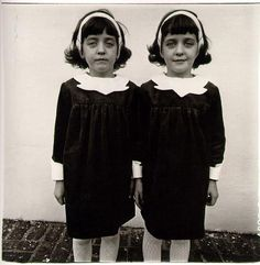 "moonriver-chacha: """"Identical Twins, Roselle, N.,"" by Diane Arbus. reproduction requires permission from the Diane Arbus estate. (Doon Arbus or Jeffrey Fraenkel of Fraenkel Gallery.) MANDATORY CREDIT: Courtesy of the Estate of Diane Arbus. Diane Arbus, Stanley Kubrick, History Of Photography, Street Photography, Documentary Photography, Photography Books, Photography Store, Photography Gallery, Documentary Film"
