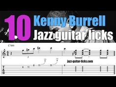 10 easy Kenny Burrell jazz guitar licks | Lesson with tabs - YouTube