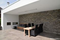 Rear Extension, Modern Patio, Bungalow, Dining Bench, Facade, Outdoor Living, Home And Garden, Table, Furniture