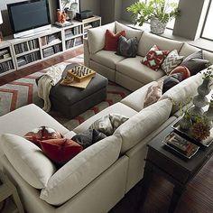 Resultado de imagen de how to mix and match a grey sofa