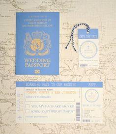 結婚式にご招待♡海外で人気の〔パスポートデザインの招待状〕が可愛すぎて真似したい*にて紹介している画像