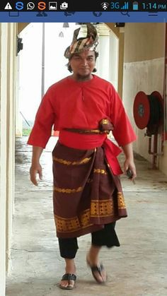 The malay costume from malaysia