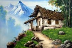 Result of the image for the oil painting House Landscape, Landscape Art, Landscape Paintings, Watercolor Paintings, Oil Pastel Drawings, Doll Painting, Painting Lessons, Cool Landscapes, Beautiful Places