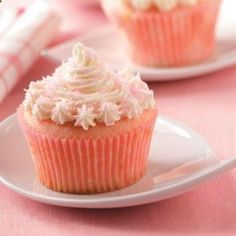 These pink velvet cupcakes will be perfect! I've already bought the pink 'edible glitter' and she's BEYOND excited. I think I'm going to let my kids frost and decorate their own cupcakes.