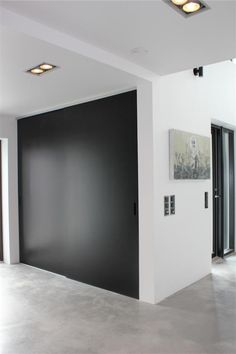 built-in cupboard with matt charcoal sliding doors. one panel to have full-length mirror, like existing cupboard. Sliding Door Window Treatments, Sliding Doors, Modern Interior, Interior Styling, Wardrobe Doors, Closet Doors, Sliding Wardrobe, Built In Cupboards, Build A Closet
