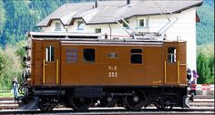 RhB, Rhätische Bahn, the electric locomotive Ge 2/4 222 (originally numbered as 204, built by SLM and BBC in 1913).