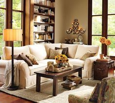 New living room ideas pottery barn couch 35 Ideas Cozy Living Rooms, Living Room Colors, New Living Room, Home And Living, Living Room Decor, Dining Rooms, Living Area, Pottery Barn Couch, Pottery Barn Style