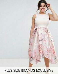 4200cd64c3ad Shop Coast Plus Orsay Bardot Midi Dress With Floral Print Skirt at ASOS.