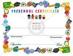 Preschool Diploma Template Word Luxury Amazing Preschool Certificates for Your Kids Free Printable Certificate Templates, Birthday Certificate, Graduation Certificate Template, Graduation Templates, Birth Certificate Template, Graduation Invitations, Templates Free, Free Printables, Preschool Certificates