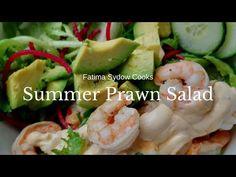 My Summer Prawn Salad. 🥗🦐🥗🦐 - YouTube Prawn Salad, My Cookbook, Light Recipes, Sushi, Meals, Cooking, Ethnic Recipes, Youtube, Summer