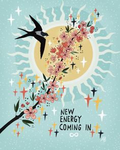 New Energy Coming In Mini Art Print by Asja Boros - Without Stand - x Motivation, Citations Yoga, Happy Words, Acrylic Box, Clear Acrylic, Pretty Words, Wall Collage, Law Of Attraction, Positive Vibes