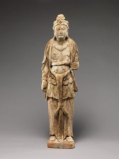Bodhisattva    Period:      Tang dynasty (918–906) or Five Dynasties (907–960)  Date:      9th–10th century  Culture:      China  Medium:      Wood (foxglove) with pigment; single-woodblock construction