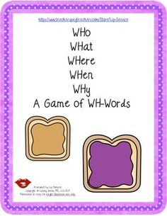 This tool was designed to improve your students awareness and use of WH-words.