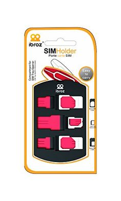 IBROZ - Etui Housse de Rangement pour Cartes SIM + Adaptateurs de Nano SIM à Micro, de Nano SIM à Standard SIM et de Micro SIM à Standard SIM: Amazon.fr: High-tech