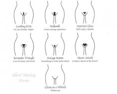 Bikini waxing styles #cleanasawhistle ;)
