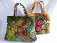Felted and embroidered