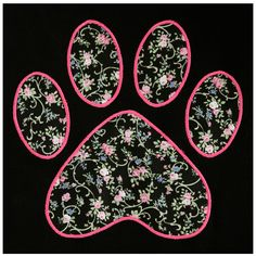Floral Paw Applique Hooded Sweatshirt – GreaterGood