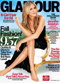 Jennifer Aniston, and her lovely legs, on the cover of Glamour prove that at 44 she's better than ever!