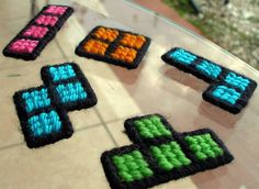Tetris Magnets - 40 DIY Gift Surprise Ideas for a Gamer Boyfriend or Girlfriend - Big DIY IDeas