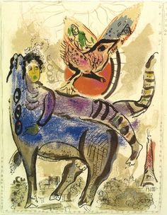 A blue cow, 1967, Marc Chagall