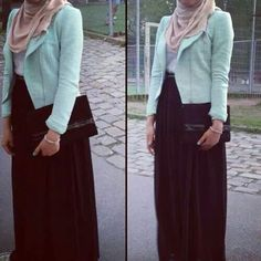 Work outfit Muslimah hijab inspiration