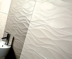 Wall-mounted tile / porcelain stoneware  / for bathroom / striped pattern DURASTONE : 3D BLOOM EVERSTONE Italy