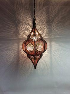 Orientalische Indische Deckenlampe Malha | Aus Metall & Glas | Deckenlampen | Hängeleuchten |