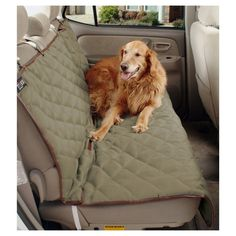 Solvit Deluxe Sta-Put Bench Seat Cover for Dogs Bucket Seat Covers, Bench Seat Covers, Dog Car Seats, Quilt Material, Back Seat, Your Dog, Dogs, Blankets, Belt