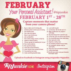 Let Tip Junkie help you capture moments that matter on your camera phone with photo journal prompts and photo editing app tips! This year there are TWO ways to… Photography Challenge, Photography Blogs, Iphone Photography, Urban Photography, White Photography, Monthly Celebration, Tip Junkie, Bullet Journal Month, February Challenge