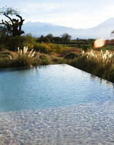 Why have a pond when you could have a pool in natural surroundings like this? Droool.