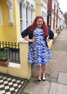 Ain't Got No Blues: Studio 8 Dita Dress and Priya Jacket   It's been a while since I've shown you a really Hayley plus size work wear option (not working means I rarely have to even get dressed - hallelujah!) but this look from Studio 8 London is cute and fresh and almost enough (but not quite) to convince me to get a damn job already!  Dita Dress - Studio 8 London  Priya Jacket - Studio 8 London  Navy Trim Flat Shoe - M&Co  I tend to opt for the floral vintage inspired prints most of the…