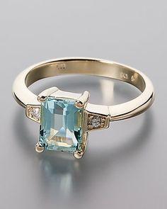 Traumhafter Goldring mit Aquamarin und Brillanten #schmuck #jewellery #sognidoro #sogni #d´oro #ring