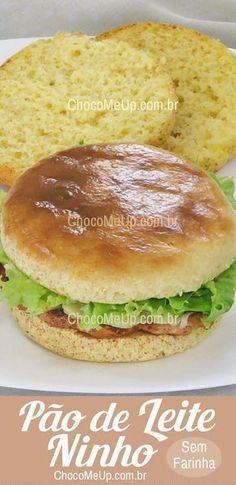 Receita de Pão de Leite Ninho sem Farinha. Esse pão leva poucos ingredientes e é super fácil de fazer. Ótima opção para você que é celíaco, está numa dieta low carb ou simplesmente não quer comer glúten.