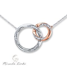 Miracle Links Necklace 110 ct tw Diamonds 10K White Gold jewelry