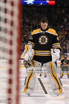 Tuukka Rask of the Boston Bruins before the game against the Columbus Blue  Jackets at the TD Garden on January 2015 in Boston df7f7ca83